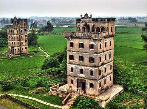 中国世界遺産「開平楼閣の村落」Village in Kaiping Pavilion, a World Heritage Site in China