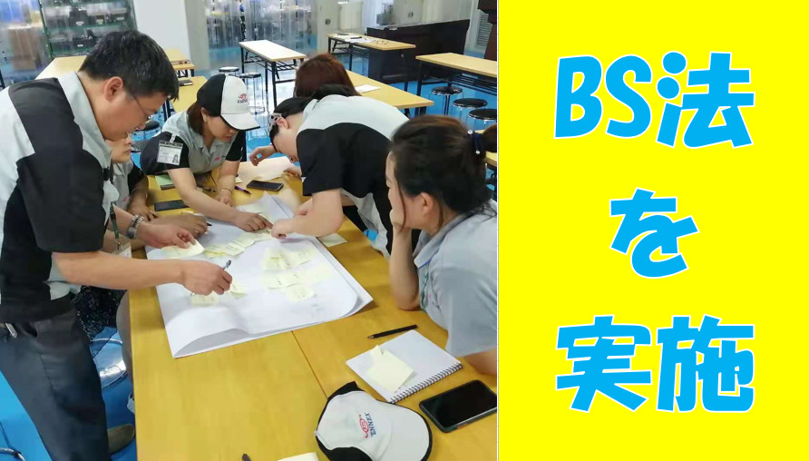 中国でBS法を実施した。(練習)The BS method was implemented in China. (practice)